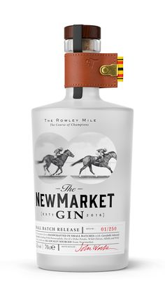 The Dieline Awards The Newmarket Gin - Drink Alcohol Bottles, Gin Bottles, Beverage Packaging, Bottle Packaging, Gin Tasting, Gin Brands, Scotch Whiskey, Bar Drinks, Packaging Design Inspiration