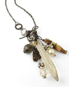 flea market finds. Love this necklace! reminds me of what kecia deveney will be teaching here at Random Arts in October