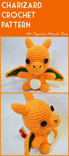 Charizard Crochet Pattern in English and Spanish