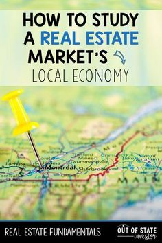 Real Estate Market Fundamentals: Local Economy - Out of State Investor - Finance Expert