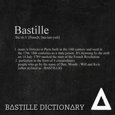Bastille Dictionary 4 'Bastille' // bastille quote lyrics fanart dan smith wild word wwcomms woody kyle will fun bastille bas-tee-yuh