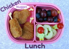 Healthy Chicken Nugget Lunch -  I like the picks for the chicken