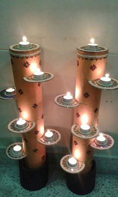Spectacular Diwali DIY Decoration Ideas (You To Do It Be .- Spectacular Diwali DIY Decoration Ideas (You are trying to do) - Diwali Decoration Lights, Diya Decoration Ideas, Diwali Decorations At Home, Decoration For Ganpati, Home Decoration, Decor Ideas, Diwali Party, Diwali Celebration, Diwali Diya
