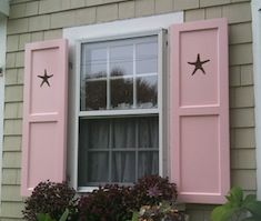 exterior shutters with custom starfish cutouts seaport shutter