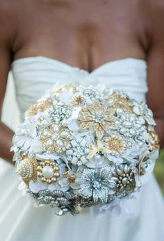 Broach Bouquet see @Cindy Martinez you can have silver and gold