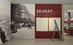 Installation Of The Exhibition 'Seurat. Master Of Pointillism', Kröller-Müller Museum.