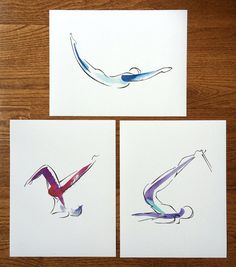 SALE Any 3 prints  Yoga or Pilates Art by LindsaySatchell on Easy https://www.etsy.com/listing/209325493/sale-any-3-prints-yoga-or-pilates-art?ref=shop_home_active_1