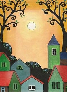 It is signed, titled, and editioned on the back by myself. This piece will make a great addition to any art collection. Landscape Quilts, Landscape Drawings, Clock Painting, Diy Painting, List Of Artists, Naive Art, Painting For Kids, Teaching Art, Flower Decorations