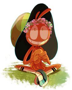 Wander wearing a flower crown. by tnilnil