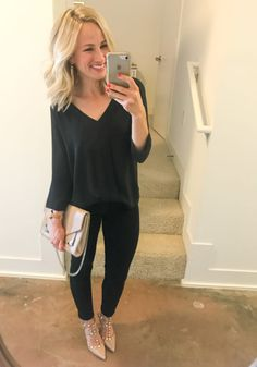 The Weekender: Favorite Links & Current Sales - brigitte What I Wore, What To Wear, Jeans With Heels, Simple Outfits, Running Women, Instagram Fashion, Striped Dress, Everyday Fashion, Fitness Fashion