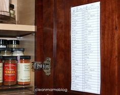 FREE Spice Inventory Printable from Clean Mama Printables