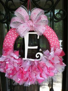 Baby Wreath Nursery Hospital Door Baby Shower by JoowaBean on Etsy Baby Door Wreaths, Hospital Door Wreaths, Hospital Door Baby, Baby Door Hangers, Tulle Wreath, Ribbon Wreaths, Holiday Wreaths, Decoration, Baby Shower Gifts