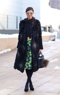 Giovanna Battaglia- NY fashion week F'14/W'15