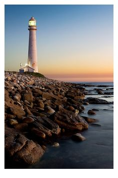 Slangkop Lighthouse near Kommetjie is the tallest cast iron lighthouse in South Africa.