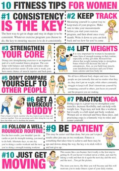 10 Fitness Tips for Women - and really everybody! (Complete with cute illustrations)