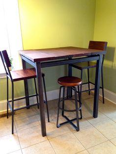 Pub Table // Reclaimed Wood & Steel