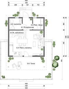 Projekt domu DL-1 46,62 m² - koszt budowy - EXTRADOM Floor Plans