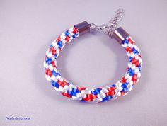 Bracelet homme supporteur équipe de France bleu par Axellecreations