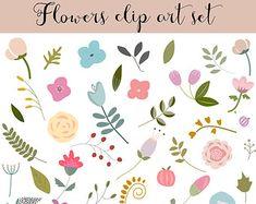 44 flor Clip Art mano dibujado imágenes por Thelittleclouddd
