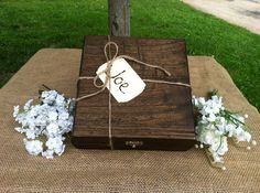 Groomsmen Gift  NINE Rustic Cigar Box With Wood by TheSmilinBride