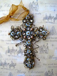 Decorative+Wall+Cross+Wirewrapped+Ornament+++by+TotallyCrosses,+$16.00