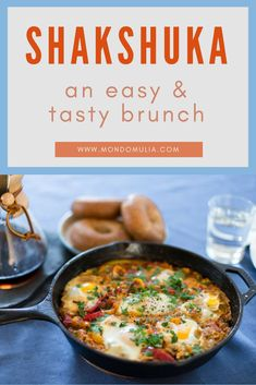 Easy and delicious Shakshuka recipe: the perfect weekend brunch. Yummy recipe from Yotam Ottolenghis Plenty cookbook. Quick and simple brunch idea. How to make the best shakshuka. Brunch Dishes, Brunch Recipes, Seafood Recipes, Breakfast Recipes, Vegetarian Recipes, Plenty Cookbook, Making A Cookbook, Cookbook Recipes, Cooking Recipes
