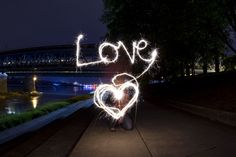 #LightPainting #Photography #Love