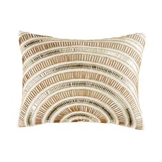 Ecru Cushion Embroidered with Golden Beads on Maisons du Monde. Take your pick from our furniture and accessories and be inspired! Potli Bags, Shades Blinds, Cushion Covers, Decorative Pillows, Shabby, Shops, Cushions, Textiles, Fancy