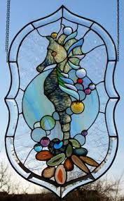 Resultado de imagen de stained glass sea horse