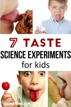 Fun science experiment projects for kids to learn about taste, why can we taste different flavors, why do people have different taste? Does nose play a role in taste? Wonderful resource for 5-senses study with STEM activities and science projects for kids of all ages, from preschool, kindergarten, to school age.