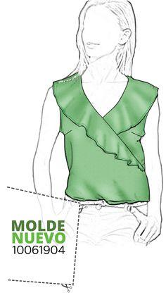 Sewing, Blouse, Pattern, Clothes, Tops, Fashion, Modeling, Cut Shirts, Chiffon Blouses