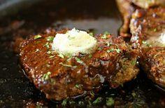 GARLIC BUTTER FILET MIGNON http://www.kleinworthco.com/2015/09/garlic-butter-filet-mignon.html