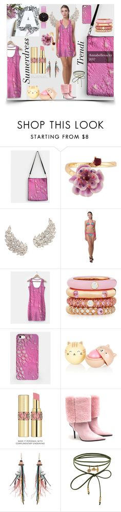 """""""Trendy Sumer dress with assets"""" by annabellerockz ❤ liked on Polyvore featuring Les Néréides, ARP, Adolfo Courrier, Yves Saint Laurent, Cesare Paciotti, Etro, Accessorize and Abbott Lyon"""