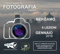 """La fotografia è la tua passione? Cosa aspetti, REGALATI un corso e ottieni uno """"scatto"""" in più! http://www.photogenico.it  #corsifotografia   #bergamo"""