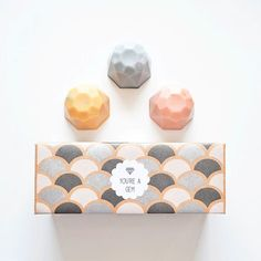 Jewel Soap Gift Set - You're a Gem - 3 Soaps, Boxed and Gift gifts handmade gifts Soap Packaging, Pretty Packaging, Beauty Packaging, Brand Packaging, Packaging Design, Branding Design, Coffee Packaging, Bottle Packaging, Product Packaging