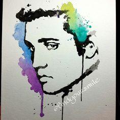 Watercolor Elvis
