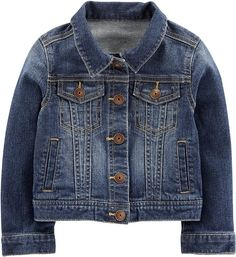 Simple Joys by Carter's Baby and Toddler Girls' Denim Jacket Girls Denim Jacket, Baby Girl Jackets, Very Short Dress, Summer Coats, 2 Piece Swimsuits, Cap Dress, Carters Baby Girl, Denim Outfit, Baby Girl Dresses