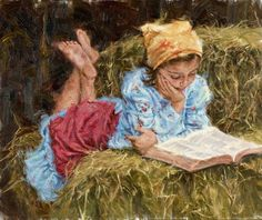 "Carla D'aguanno ""Time with the Good Book"", Fredericksburg Art Gallery… Book Crafts, Good Books, Nostalgia, The Past, Sculptures, Art Gallery, Fine Art, Country Living, Drawings"
