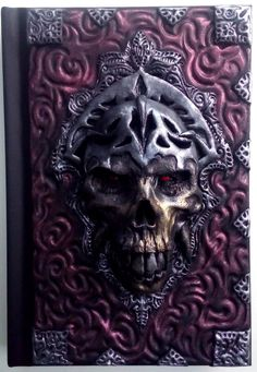 Skull Travel Book Castlevania horror polymer clay by ClaymanPL