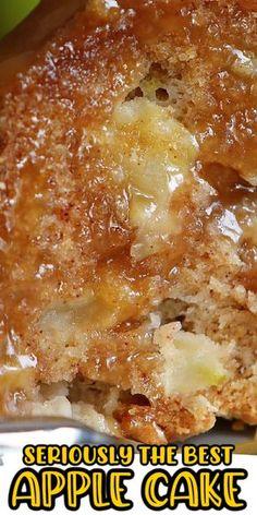 Baked Apple Dessert, Apple Dessert Recipes, Baking Recipes, Recipe For Apple Cake, Apple Pudding Cake Recipe, Easy Apple Desserts, Easy Apple Cake, Oreo Dessert, Apple Recipes Easy