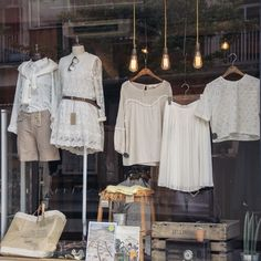 Olive clothing Cheltenham store window display