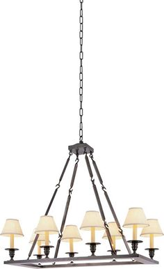 Comes in a lot of different finishes RECTANGULAR FLATLINE CHANDELIER