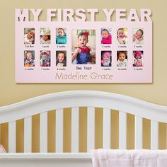 A great gift for newborns, our frame holds 13 photos to show how cute babies grow even cuter.
