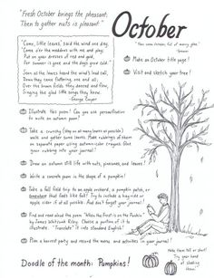 October Journal Inspiration