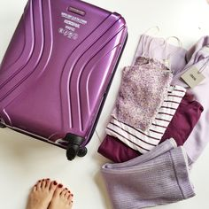 Alex's Closet complements her Purple Vivotec case with all purple everything #TravelBright
