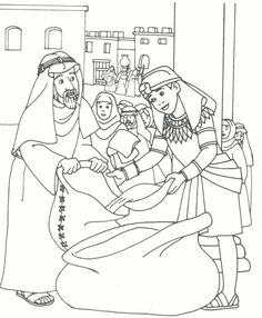 Joseph & brothers coloring page | Kid Printables
