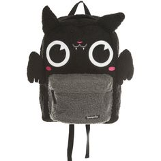 Loungefly Bat Plush Backpack   Hot Topic ($30) ❤ liked on Polyvore featuring bags, backpacks, accessories and bat