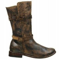 Stu Turn Women's Motorcycle Boots Leather