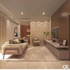 Home Decoration For Living Room Living Room Wall Designs, Tiny Living Rooms, Living Room Grey, Interior Design Living Room, Living Room Decor, Family Room Walls, Sala Grande, Small Apartments, Luxury Living