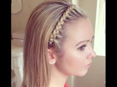 The Headband Braid by SweetHearts Hair Design - YouTube